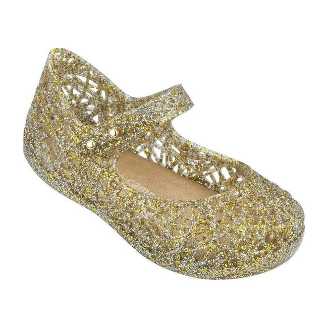 Mini Melissa Campana Mix Mary Jane - Gold Glitter