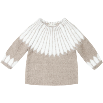 Chalet Knit Sweater - Grey & Ivory