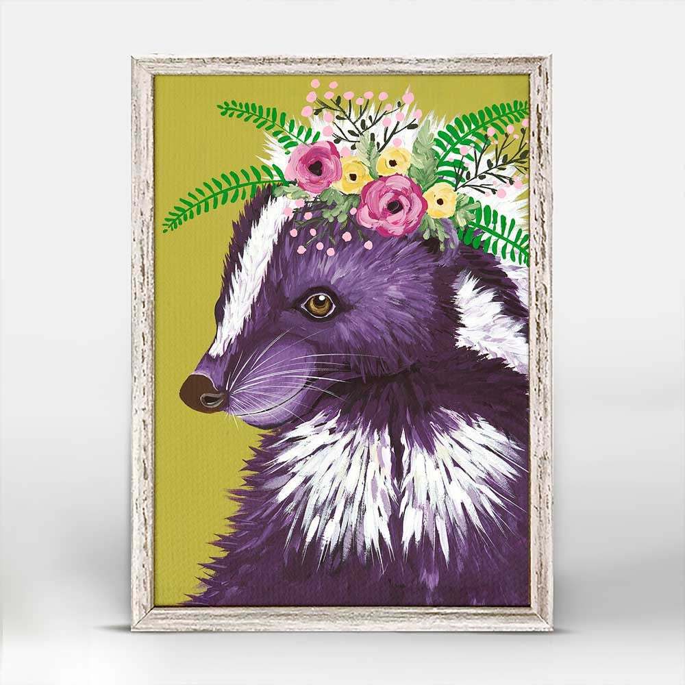 "Flora & Fauna - Petunia Framed Canvas - 5""x7"""