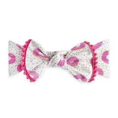 Trimmed Printed Knot Headband - Sprinklicious