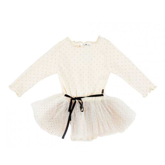 Baby Dot Sha Tutu Dress- Cream