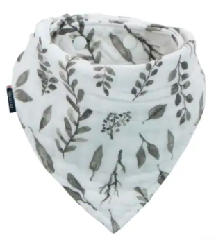 Leaves Muslin Bandana Bib