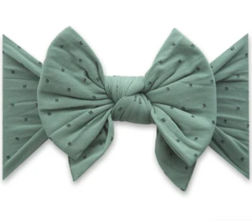 Dang Enormous Bow Headband - Fern with Black Dots
