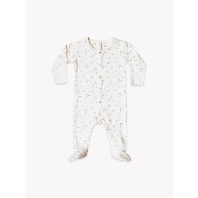 Organic Jersey Full Snap Footie - Ivory
