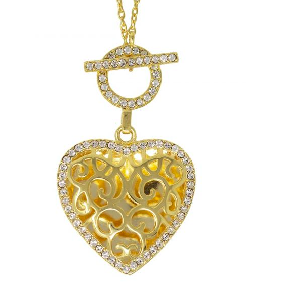 Clara Locket Necklace - Yellow Gold