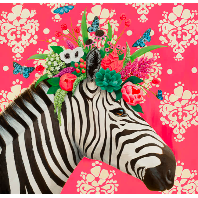 Haute House Zebra Canvas Wall Art - 24x24