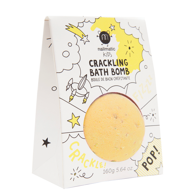 Crackling Bath Bomb - Yellow Pop