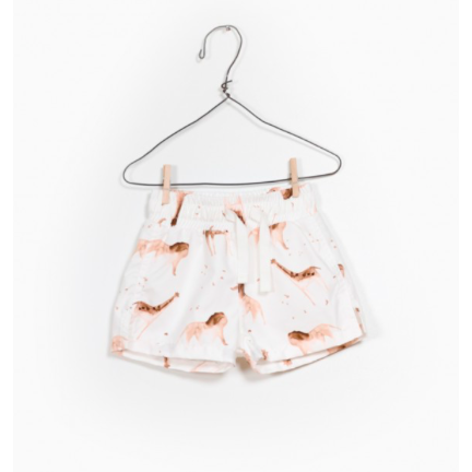 Printed Swim Shorts - White Safari