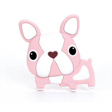 Boston Terrier Teether - Pink