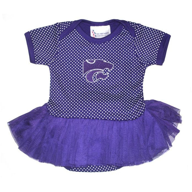 Kansas State Pin Dot Tutu Creeper