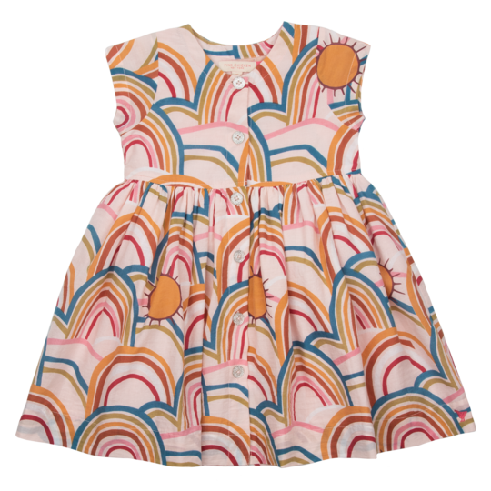 Winnie Dress - Cloud Pink Rainbows