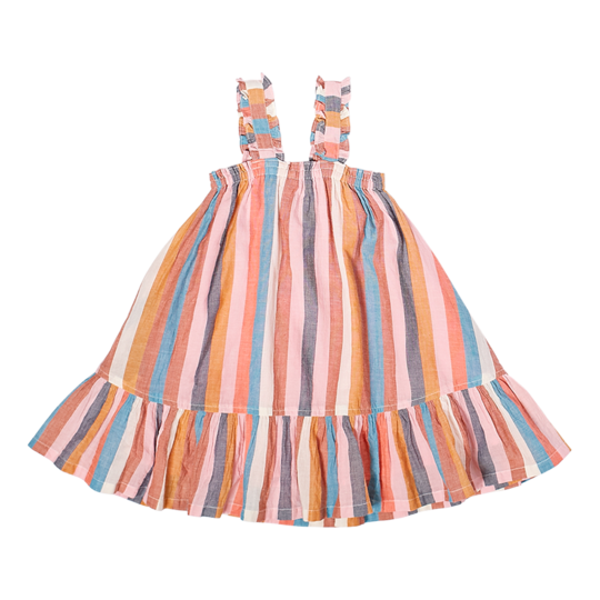 Emma Dress - Multi Stripe