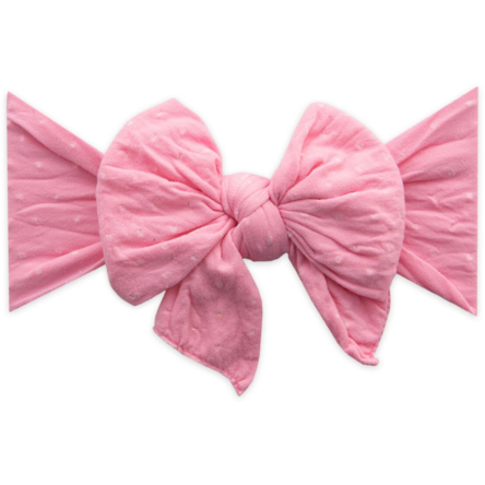 Dang Enormous Bow Headband - Bubblegum Dot