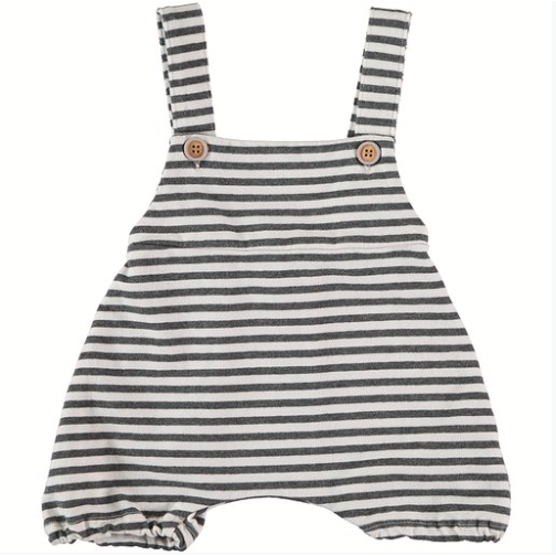 Savona - White & Black Striped Sweat Romper
