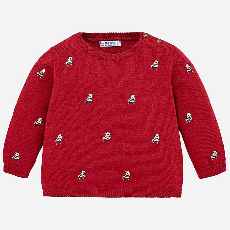 Embroidered Dog Sweater