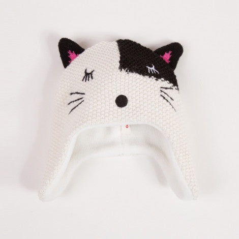 Fleece Lined Cat Knit Hat