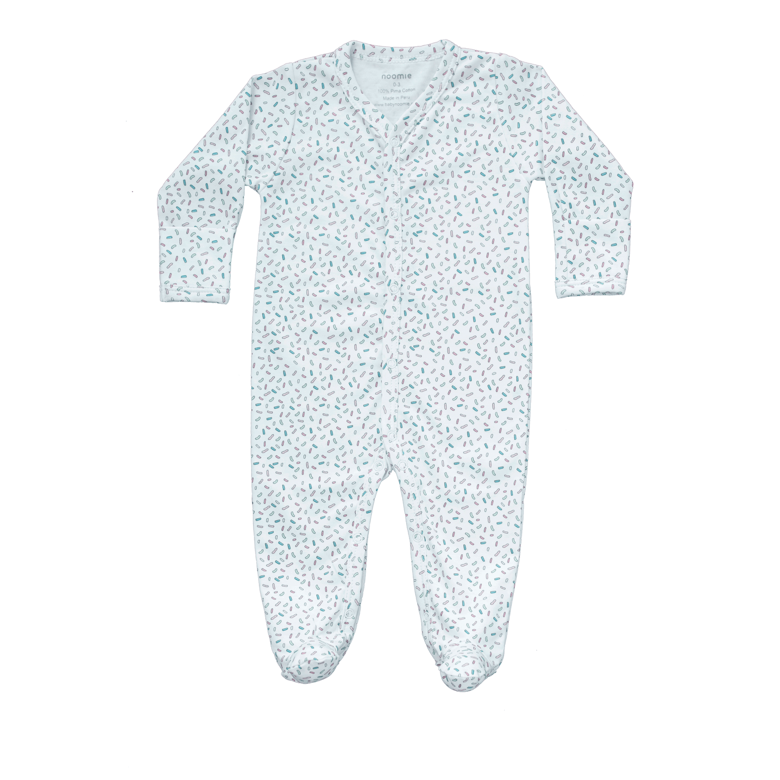 Pima Cotton Snap Footie - Sprinkle