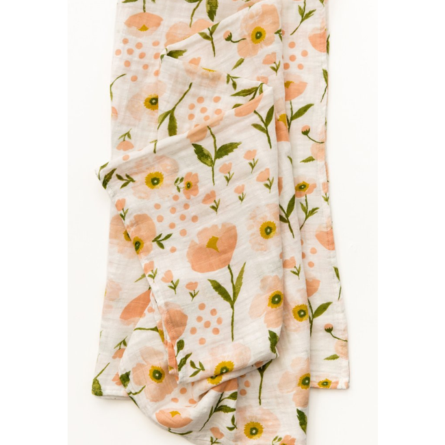 Blush Bloom Swaddle Blanket