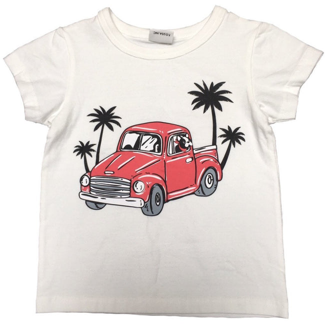 Retro Car with Pup Tee