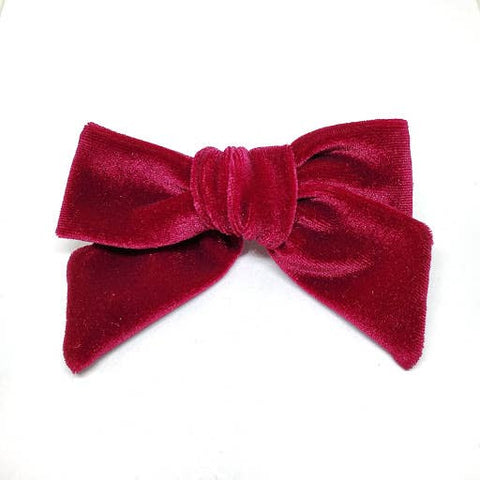 Leather Bow Tie Headband - Pink