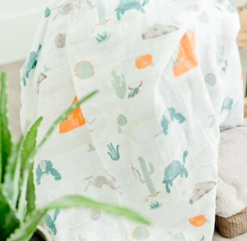 Slow & Steady Bamboo Rayon Muslin Swaddle Blanket