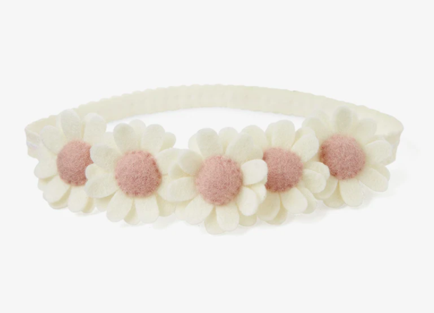 Flowers Cream Headband