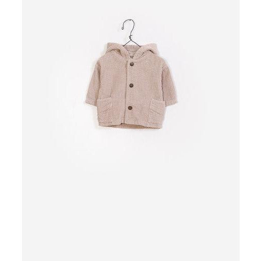Corduroy Button Up Jacket - Beige