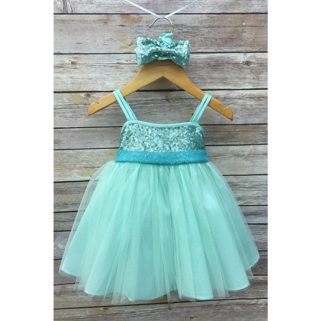 Adele Party Dress - Mint
