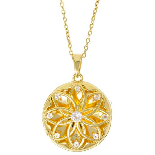 Helen Locket Necklace - Yellow Gold