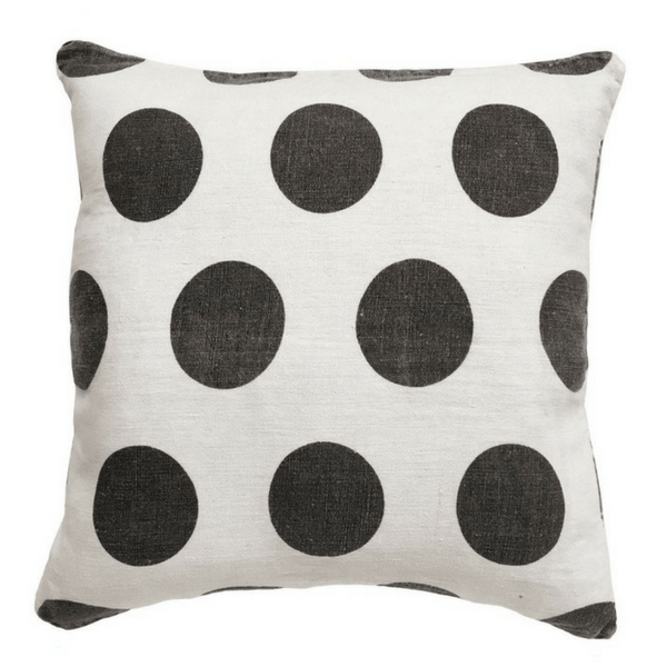 "Reversible Polka Dot Pillow - 24"" x 24"""