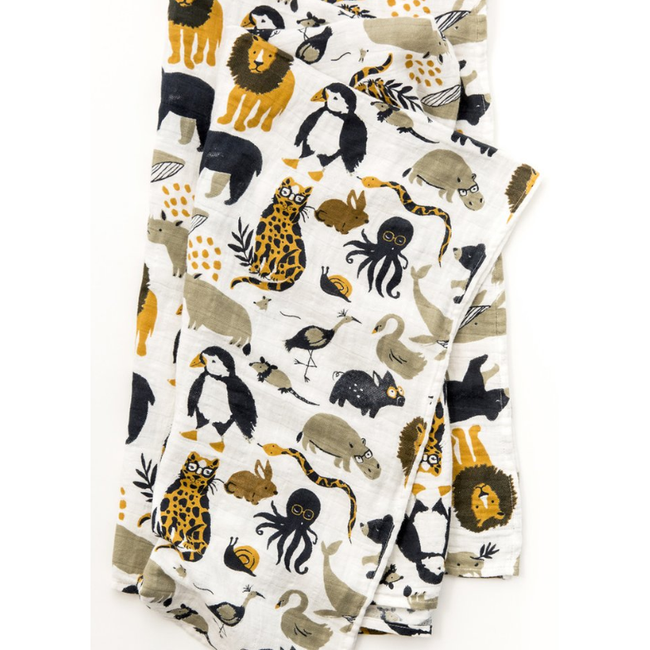 Zoology Swaddle Blanket