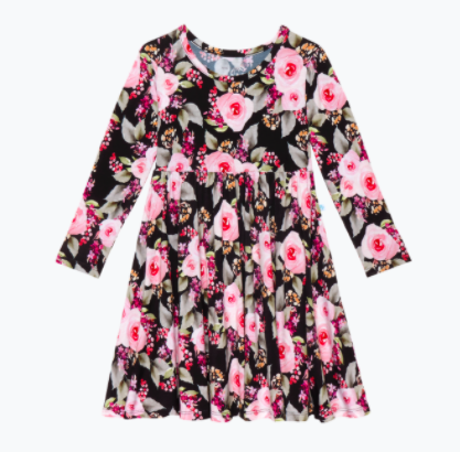 Long Sleeve Twirl Dress - Milana