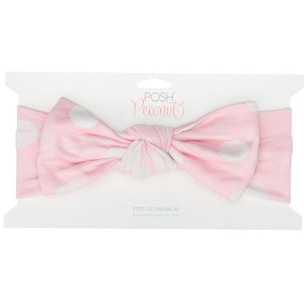 Infant Headwrap - Pink Polka Dot