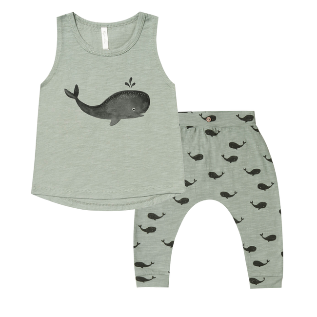 Tank & Slouch Pant Set - Whale