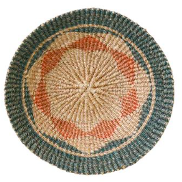 "16"" Abaca Wall Basket - Green"