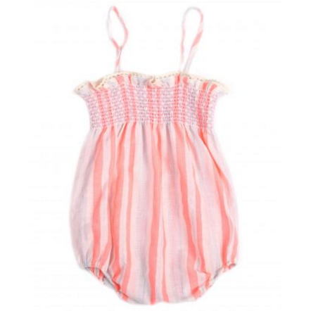 Talula Pink Striped Romper