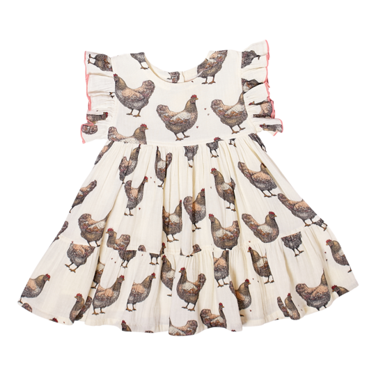 Kit Dress - Chickens