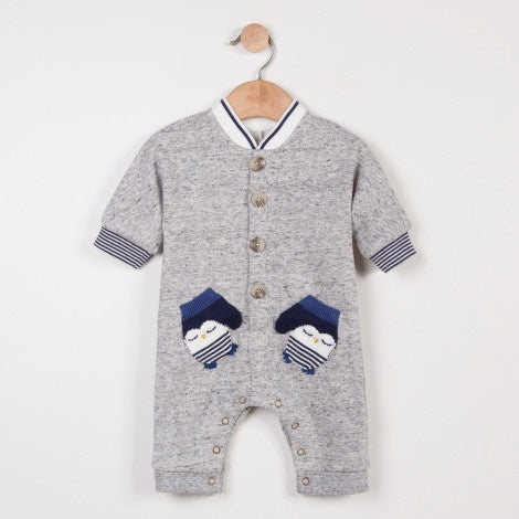 Penguin Mitten Fleece Jumpsuit