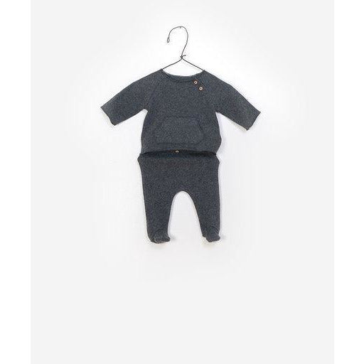 Long Sleeve Top & Pant Set - Charcoal