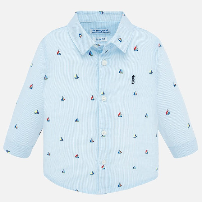 Sailboat Collared Shirt