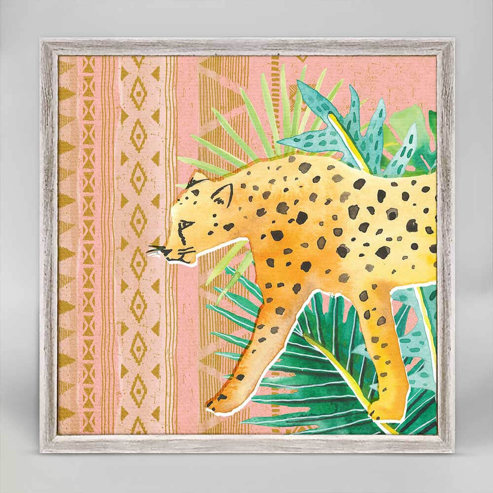 "Wild Jungle Cat Framed Canvas - 6""x6"""