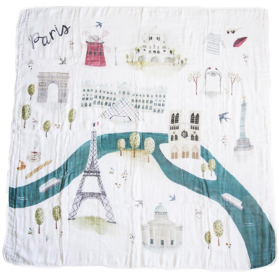 Luxe Muslin Swaddle - Paris