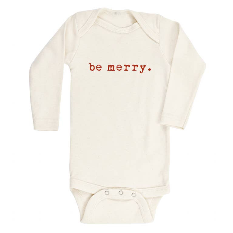 Long Sleeve Onesie - Be Merry