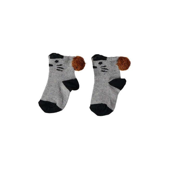 Tiger Melange Baby Socks - Grey