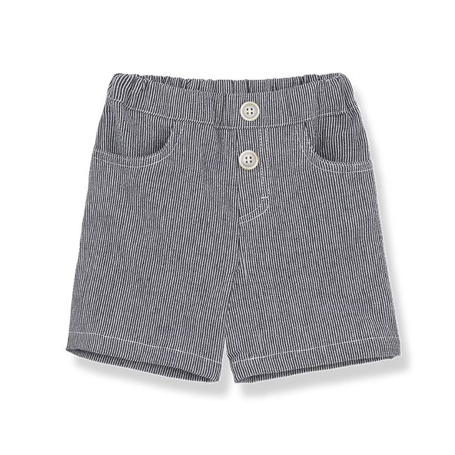Lazzaro Bermuda Shorts - Blue Notte