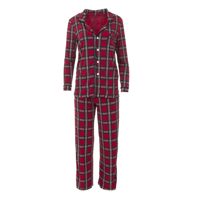 Collared Pajama Set - Christmas Plaid