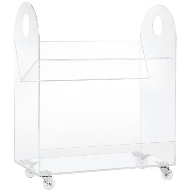 Presto Acrylic Bookcase and Cart