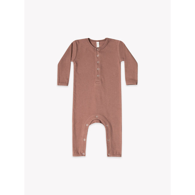 Organic Ribbed Jumpsuit - Clay