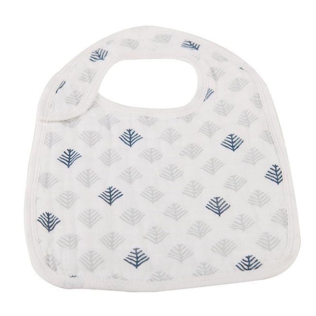 Blue Deer Tree Snap Bib