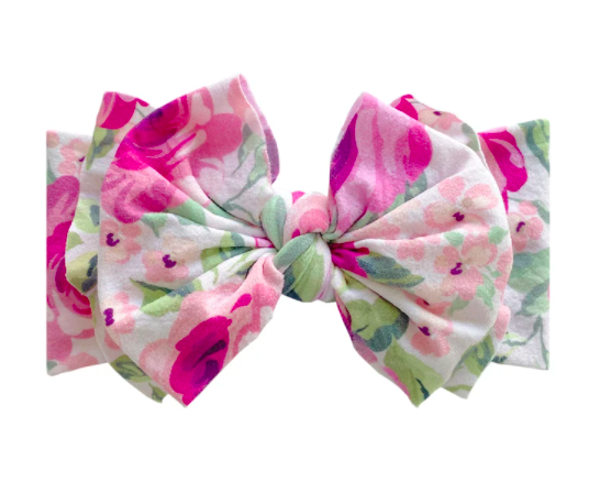 Printed FAB Headband - Pink Rose